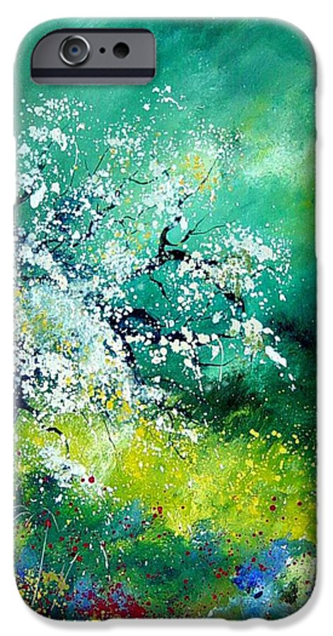 Flowers IPhone 6 Case featuring the painting Spring by Pol Ledent