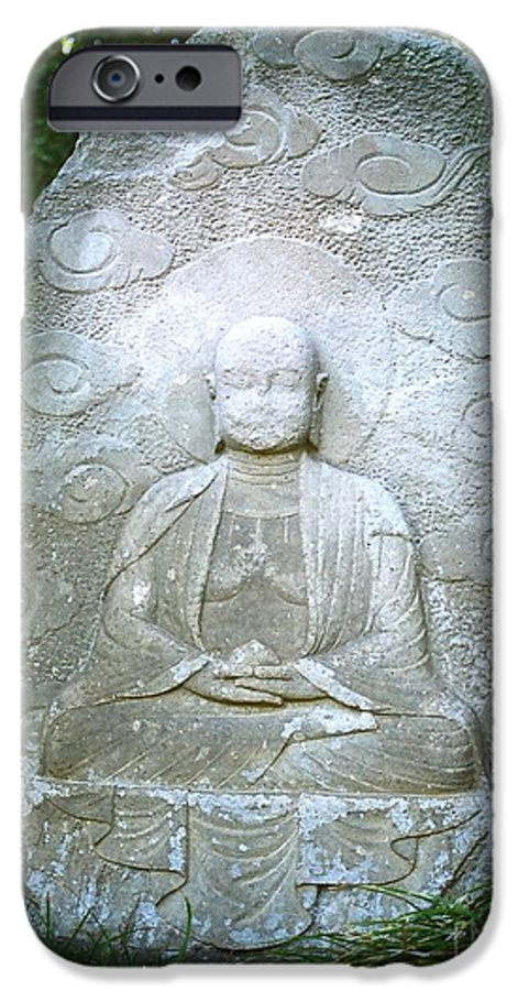 Stone IPhone 6 Case featuring the photograph Stone Buddha by Dean Triolo