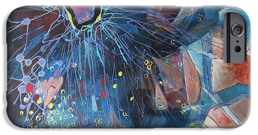 Abstract Paintings IPhone 6 Case featuring the painting Storm At Sea by Seon-Jeong Kim