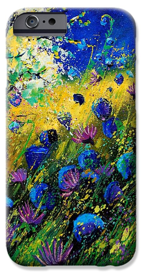 Poppies IPhone 6 Case featuring the painting Summer 450208 by Pol Ledent
