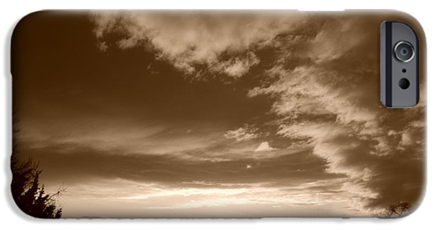 Sunset IPhone 6 Case featuring the photograph Sunset And Clouds by Rob Hans