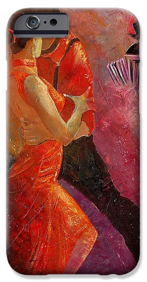 Tango IPhone 6 Case featuring the painting Tango by Pol Ledent