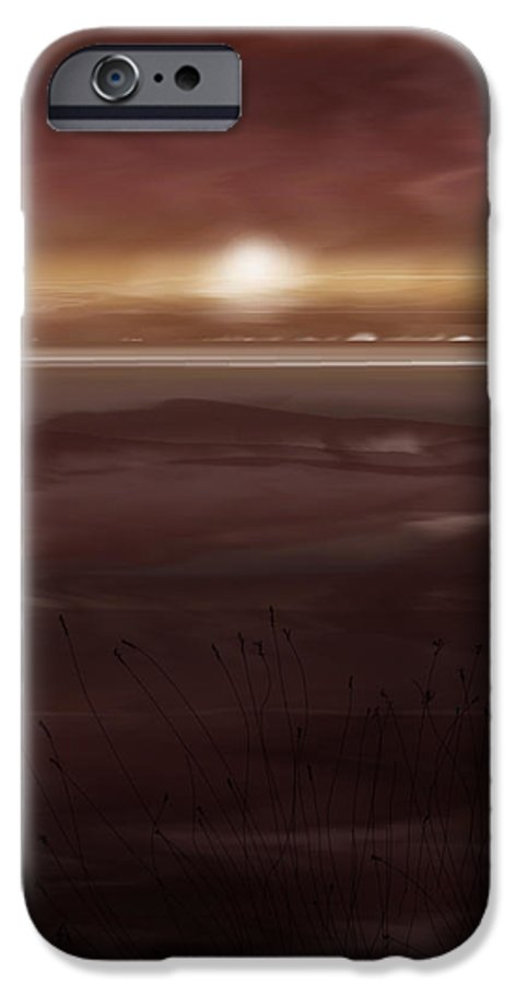 Seascape IPhone 6 Case featuring the painting Tide Flats At Dusk by Anne Norskog