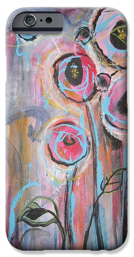 Aabstract Paintings IPhone 6 Case featuring the painting Too Many Temptations by Seon-Jeong Kim