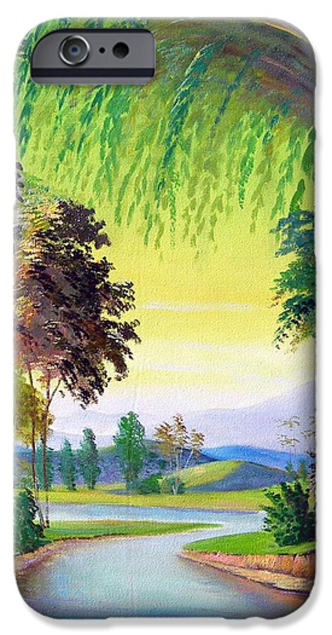 Landscape IPhone 6 Case featuring the painting Verde Que Te Quero Verde by Leomariano artist BRASIL