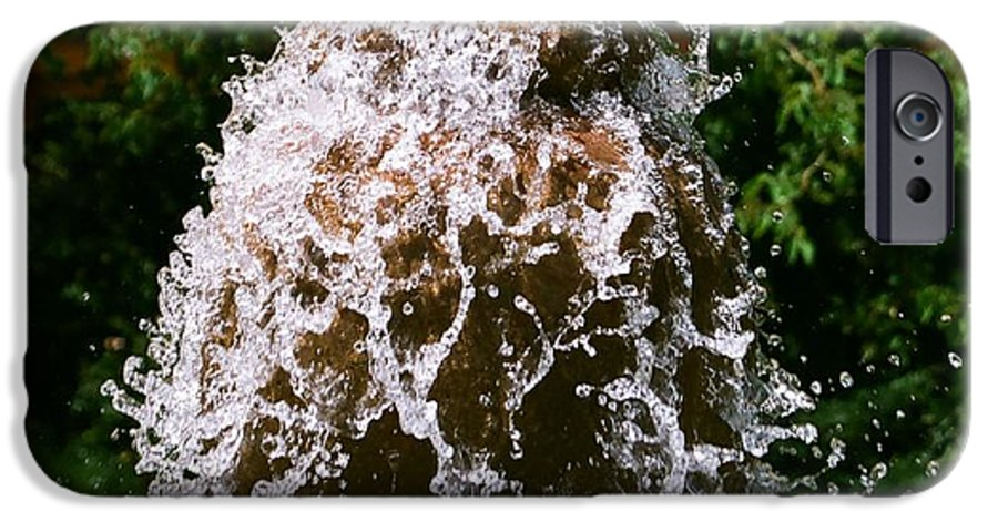 Water IPhone 6 Case featuring the photograph Water Fountain by Dean Triolo