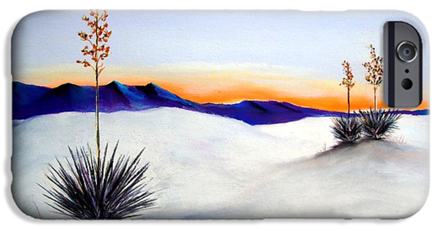 White Sands IPhone 6 Case featuring the painting White Sands by Melinda Etzold