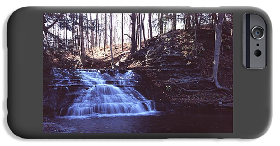 Waterfall IPhone 6 Case featuring the photograph 111401-4 by Mike Davis