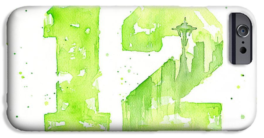 12th Man Seahawks Art Go Hawks Iphone 6 Case For Sale By