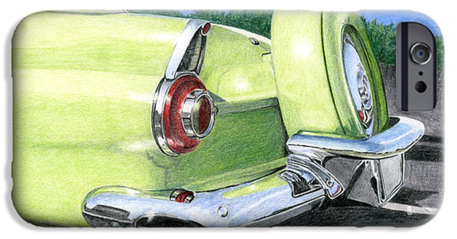 Classic IPhone 6 Case featuring the drawing 1956 Ford Thunderbird by Rob De Vries
