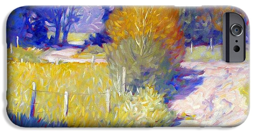 Landscape IPhone 6 Case featuring the painting Back Road by Kevin Lawrence Leveque