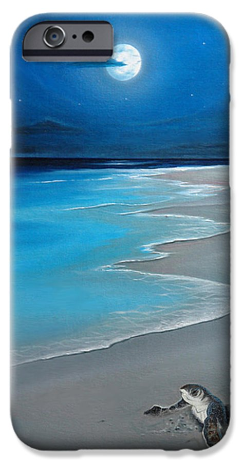 Seascape Art IPhone 6 Case featuring the painting First Born by Angel Ortiz