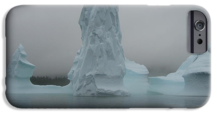 Icebergs Newfoundland IPhone 6 Case featuring the photograph Icebergs by Seon-Jeong Kim