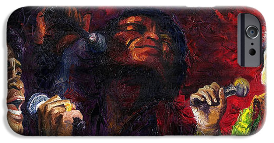Jazz IPhone 6 Case featuring the painting Jazz James Brown by Yuriy Shevchuk