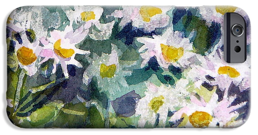 Flowers IPhone 6 Case featuring the painting Little Asters by Jan Bennicoff