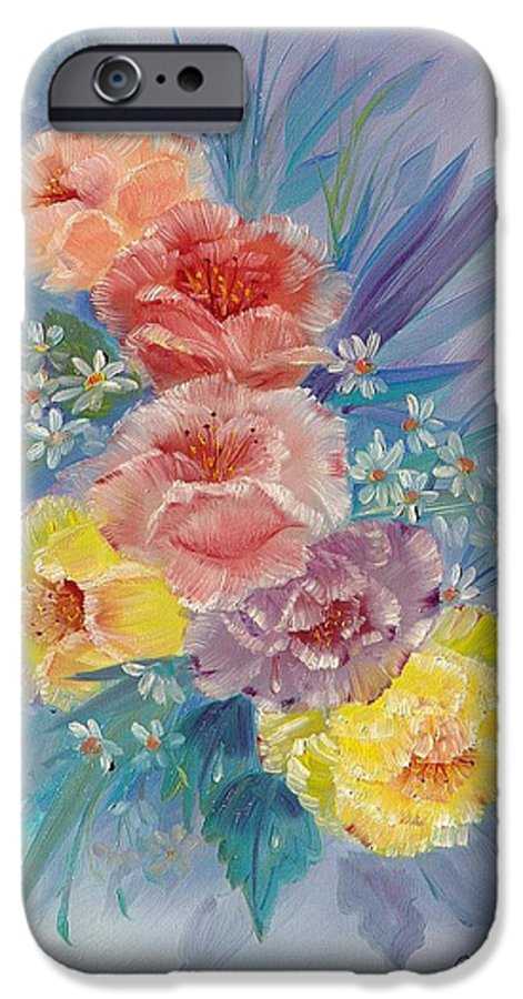 Roses IPhone 6 Case featuring the painting Roses by Quwatha Valentine
