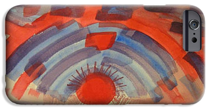 Landscape IPhone 6 Case featuring the painting Sunset On The Horizon by Natalee Parochka