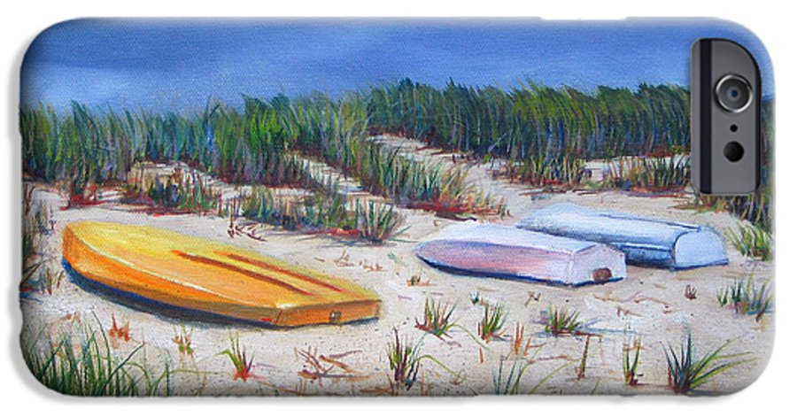 Cape Cod IPhone 6 Case featuring the painting 3 Boats by Paul Walsh