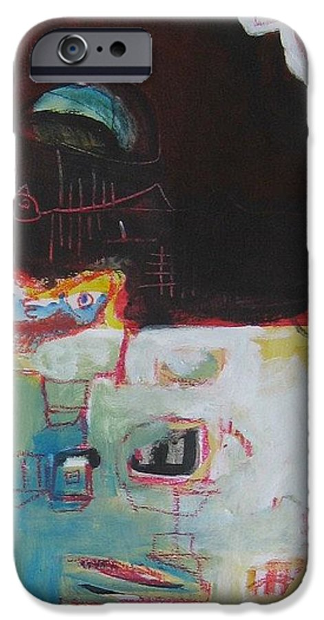 Abstract Paintings IPhone 6 Case featuring the painting Little Bay by Seon-Jeong Kim