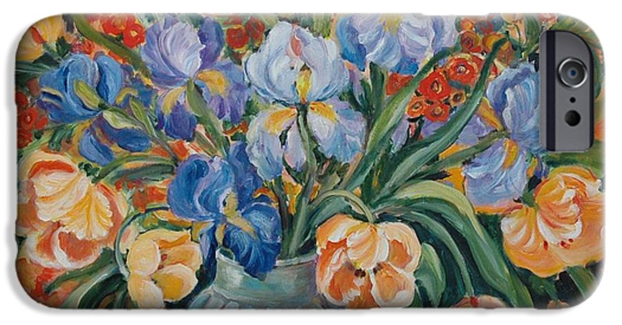 Still Life IPhone 6 Case featuring the painting Tulips by Alexandra Maria Ethlyn Cheshire
