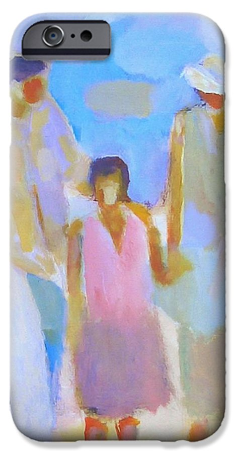 Abstract IPhone 6 Case featuring the painting 3 With Love by Habib Ayat