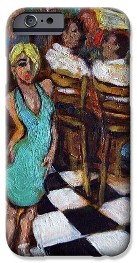 Restaurant IPhone 6 Case featuring the painting 32 East by Valerie Vescovi