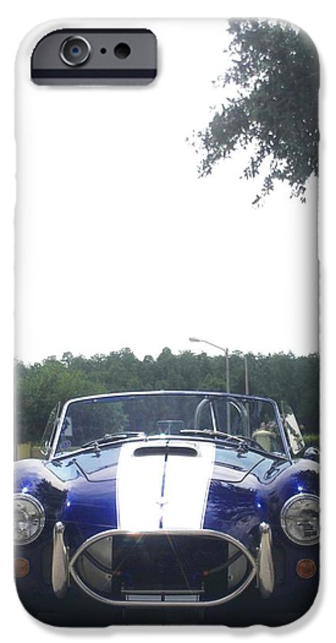 Speed IPhone 6 Case featuring the photograph 427 Cobra Side Oiler by Margaret Fortunato