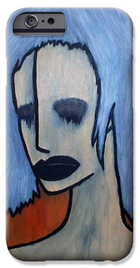 Potrait IPhone 6 Case featuring the painting Halloween by Thomas Valentine