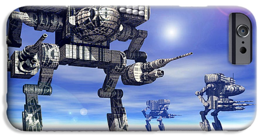 Science Fiction IPhone 6 Case featuring the digital art 501st Mech Trinary by Curtiss Shaffer