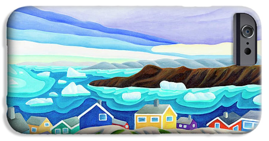 Arctic Landscape. Greenland IPhone 6 Case featuring the painting 69 Degrees 13 Minutes North by Lynn Soehner
