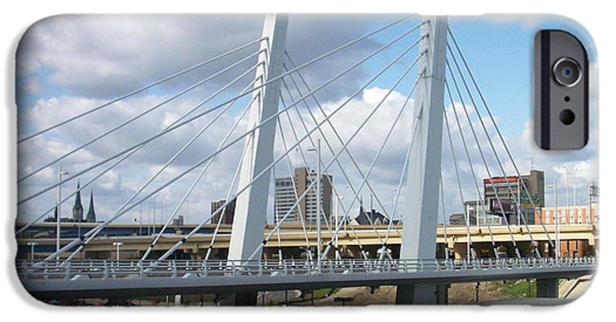 Bridge IPhone 6 Case featuring the photograph 6th Street Bridge by Anita Burgermeister
