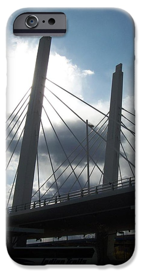 Bridge IPhone 6 Case featuring the photograph 6th Street Bridge Backlit by Anita Burgermeister