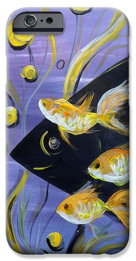 Fish IPhone 6 Case featuring the painting 8 Gold Fish by Gina De Gorna
