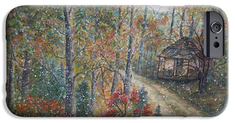 Country Road; Old House; Trees IPhone 6 Case featuring the painting A Bend In The Road by Ben Kiger