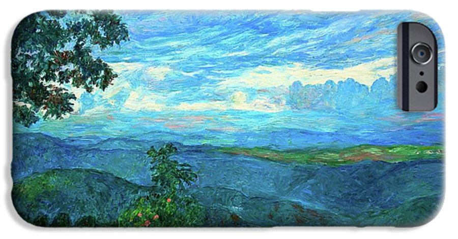 Mountains IPhone 6 Case featuring the painting A Break In The Clouds by Kendall Kessler