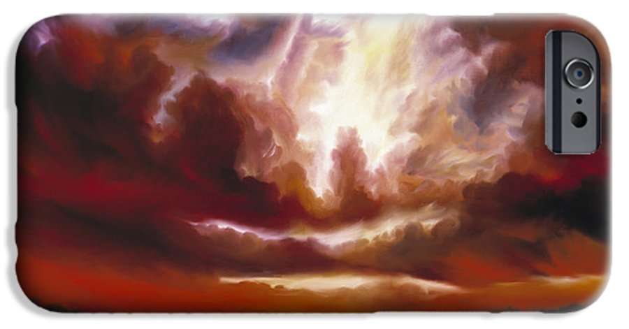 Tempest IPhone 6 Case featuring the painting A Cosmic Storm - Genesis V by James Christopher Hill