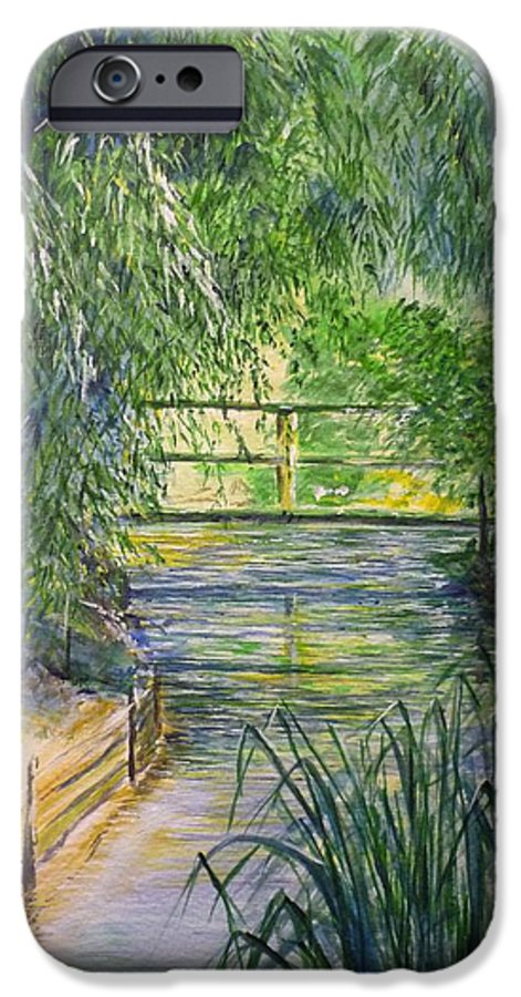 Giverny IPhone 6 Case featuring the painting A Day At Giverny by Lizzy Forrester