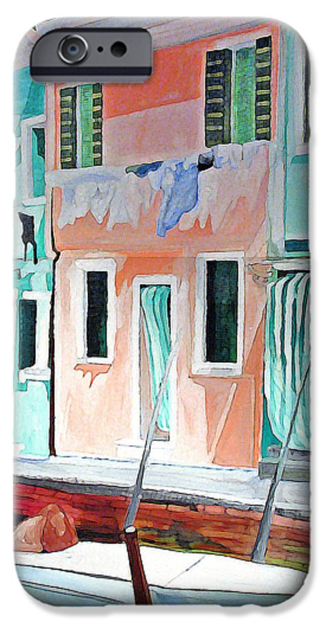 Italy IPhone 6 Case featuring the painting A Day In Burrano by Patricia Arroyo