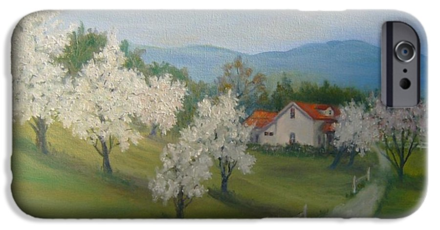 Landscape; Spring; Mountains; Country Road; House IPhone 6 Case featuring the painting A Day In The Country by Ben Kiger