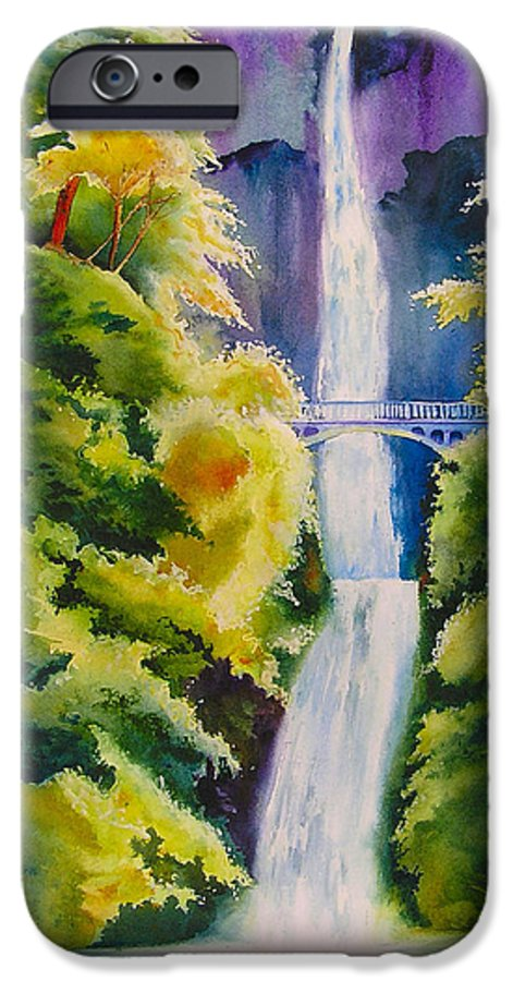 Waterfall IPhone 6 Case featuring the painting A Favorite Place by Karen Stark