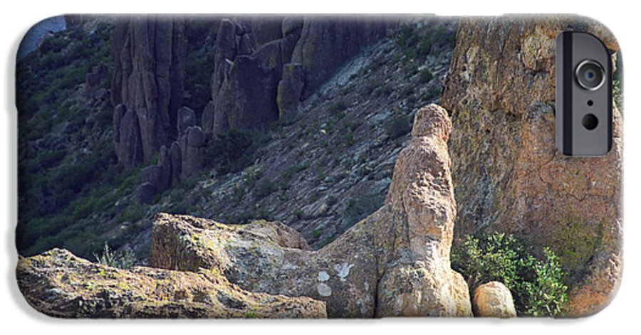 Rock Formations IPhone 6 Case featuring the photograph A Hard Ride by Kathy McClure