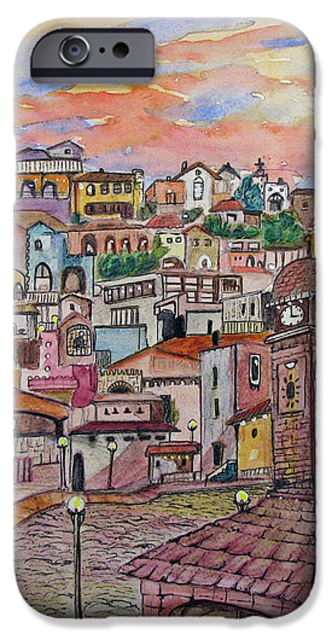 Townscape IPhone 6 Case featuring the painting A Little Town In France by Patricia Arroyo