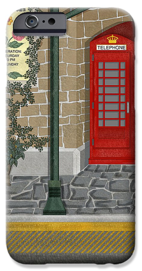 Cityscape IPhone 6 Case featuring the painting A Merry Old Corner In London by Anne Norskog
