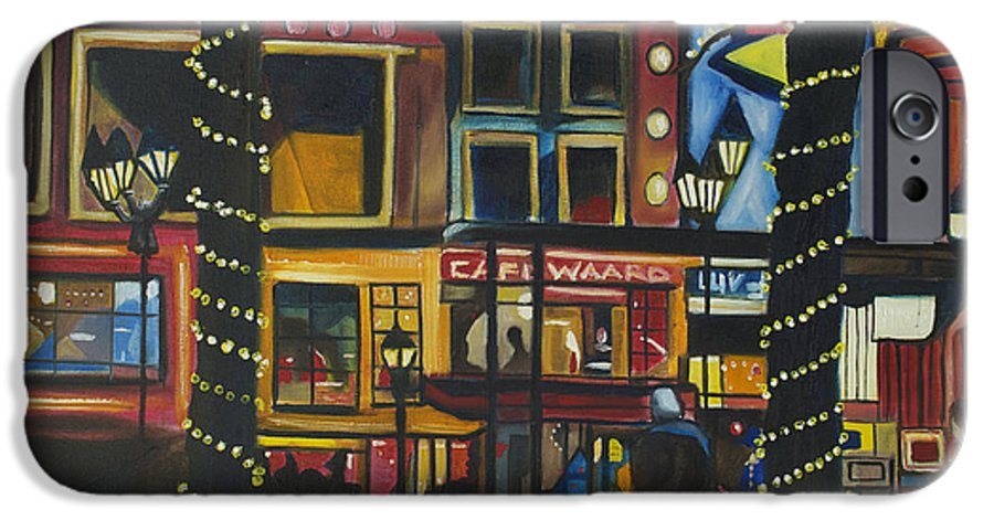 Cityscape IPhone 6 Case featuring the painting A Moment In Dam by Patricia Arroyo