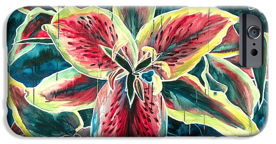 Floral Painting IPhone 6 Case featuring the painting A New Day by Jennifer McDuffie