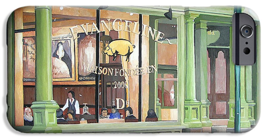 Restaurant IPhone 6 Case featuring the painting A Night At Evangeline by Dominic White