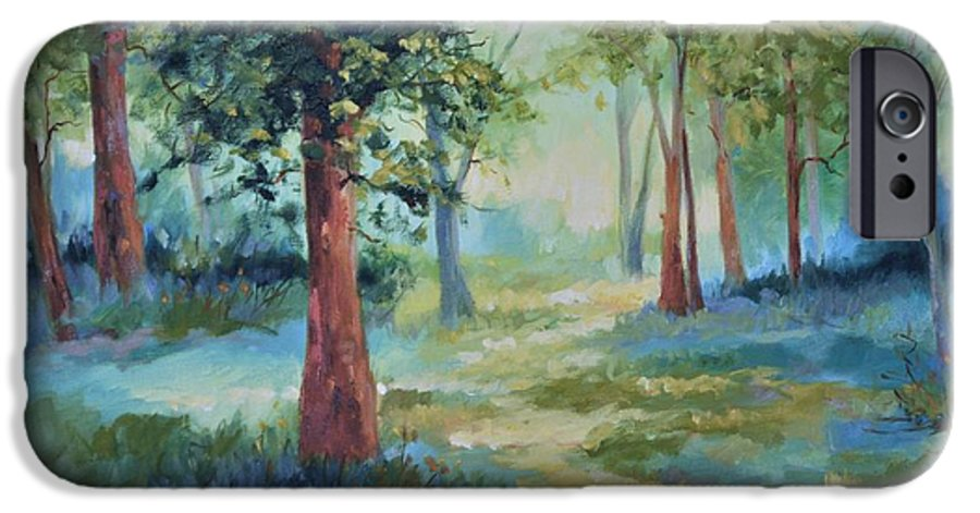 Trees IPhone 6 Case featuring the painting A Path Not Taken by Ginger Concepcion