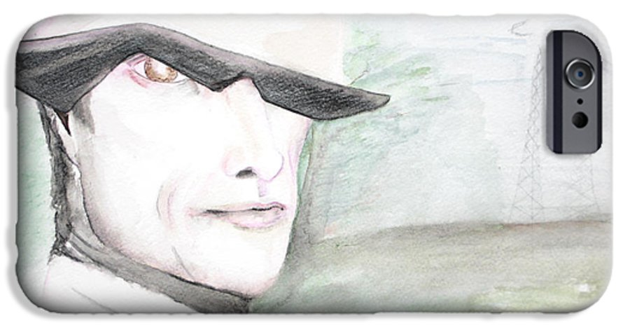 Perry Farrell Jane's Addiction Darkestartist Darkest Artist IPhone 6 Case featuring the painting A Perry Farrell Plan by Darkest Artist