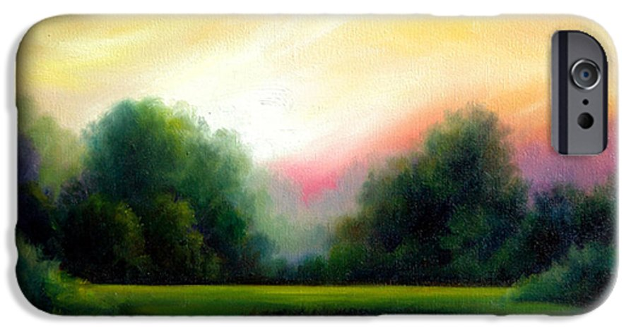 Clouds IPhone 6 Case featuring the painting A Spring Evening by James Christopher Hill