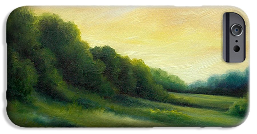 Clouds IPhone 6 Case featuring the painting A Spring Evening Part Two by James Christopher Hill